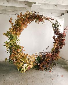 The making of this arbor is on stories right now. We did this one for practice and because we can't get enough of the fall foliage. Ceremony Backdrop, Ceremony Decorations, Floral Wedding, Wedding Flowers, Flower Installation, Autumn Wedding, Belle Photo, Dried Flowers, Floral Arrangements