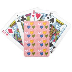 Lonely hearts bicycle playing cards - Saint Valentine's Day gift idea couple love girlfriend boyfriend design