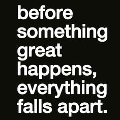 Truth.... Regram from @lewishowes - If everything seems to be falling apart in your life then take notice. Be aware of what's not working and learn from it to move towards a new action plan. Great things are coming soon. Live from a place of joy and you will start to see greatness coming to you! #Regrann