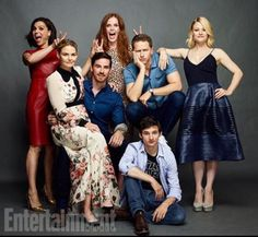 The cast - love Jennifer's dress