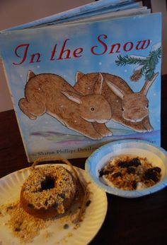 December Baby Toddler Book Club Meeting activity and snack based on In the Snow by Sharon Phillips Denslow