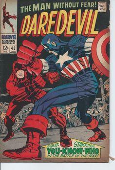 Marvel: Daredevil #43 VG (Stan Lee, Jack Kirby, Joe Sinnot, Gene Colan)