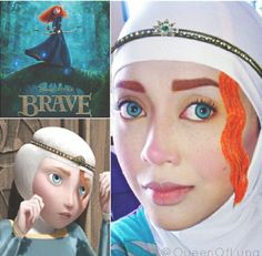 Thiswomanusesherhijabtotransformintoherfavoritedisney - Makeup artist uses hijab to transform herself into disney characters