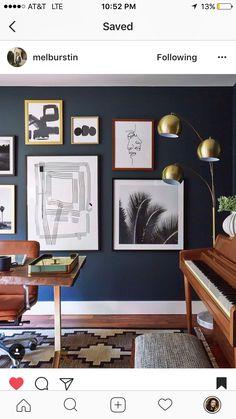 holz farbe kombinieren schick dunkle wandfarbe nussbaum wohnen in 2018 buero wohnzimmer und. Black Bedroom Furniture Sets. Home Design Ideas