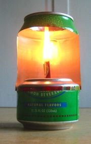 Make an Aluminum Can Lamp For Light And Heating Water - Very handy  #shtf #prepping #survival