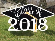 Graduation Yard Signs, School, Cards, Home Decor, Decoration Home, Room Decor, Maps, Home Interior Design, Playing Cards