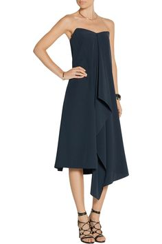 Shop on-sale Tibi Asymmetric silk crepe de chine strapless dress. Browse other discount designer Dresses & more on The Most Fashionable Fashion Outlet, THE OUTNET.COM
