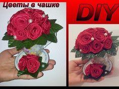 DIY цветы в чашке