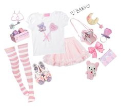 """Pastel Baby"" by super-kawaii-zoe ❤ liked on Polyvore featuring LILI GAUFRETTE and Schone"