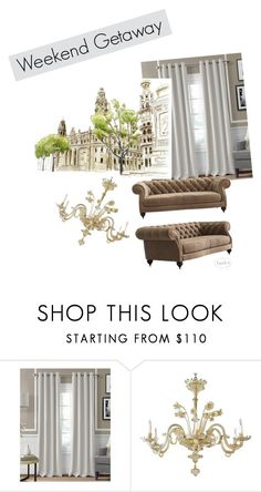 """french mood"" by sv-fet on Polyvore featuring interior, interiors, interior design, дом, home decor, interior decorating и Elrene Home Fashions"
