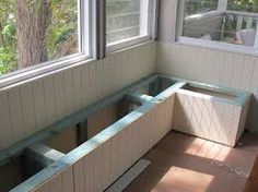 image result for dining bench built in - Dining Room Bench Seating Ideas