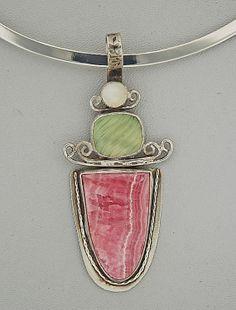 Rhodochrosite Necklace by SloanFineJewelry on Etsy, $225.00