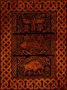 Crow, Salmon and Boar by ~stefanialovera