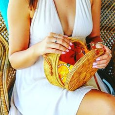 A light breezy dress colourful nails and a saucy rattan bag makes Summer all perfect. Boho Accessories, Colourful Nails, Colorful, Chanel Boy Bag, Bag Making, Rattan, Nail Colors, Straw Bag, Hand Weaving