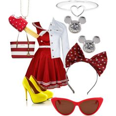 """""""Minnie Mouse dapper day"""" by they-call-me-broken-ocean on Polyvore"""