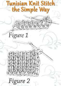Tunisian Crochet Stitches: Instructions, Examples & More Learn how to do the Tunisian Knit Stitch the right way with this free advice page on Tunisian crochet. Tunisian Crochet Patterns, Crochet Motifs, Crochet Chart, Love Crochet, Crochet Hooks, Knitting Patterns, Knit Crochet, Knitting Tutorials, Lace Patterns
