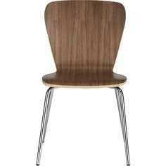 Felix Walnut Side Chair from Crate & Barrel. My dinning chairs. Affordable but stylish and comes in all different colors with I like.