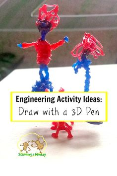 Looking for engineering activity ideas for kids? Drawing with a 3D pen is both fun and educational! Find tons of educational use ideas here!