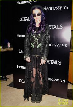 Katy Perry (goth much?) at the DETAILS Midnight party by Henessy VS 2012