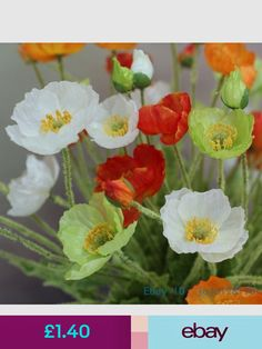 12pcslot artificial poppy flower pu poppies decorative poppy 12pcslot artificial poppy flower pu poppies decorative poppy flowers for wedding bridal bouquet home danas wedding pinterest flowers and gardens mightylinksfo