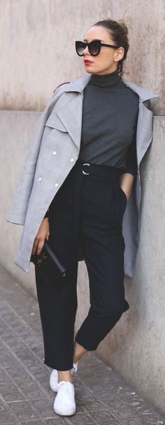 Grey 'prince De Galles' Trench by My Showroom Blog