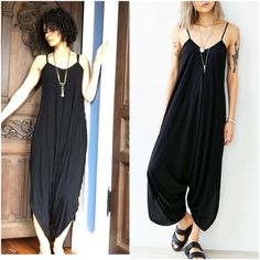 Silence + Noise Oversized Jumpsuit Black Size XS Still being sold on Urban Outfitters website (pics and info taken from there), this is really soft and super comfy. Great for summer. Step into it. Fits true to size. silence + noise Dresses