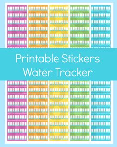 New to CommandCenter on Etsy: Erin Condren Planner Water Tracker Planner Stickers Hydrate Stickers Printable Planner Page Water Stickers Erin Condren Stickers (1.99 USD)