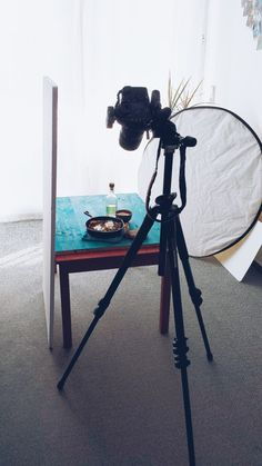 Inspiration on Saturday by @Simone van den Berg my photography set-up!
