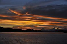 Sunset Sunset over the islands of Komodo National Park.