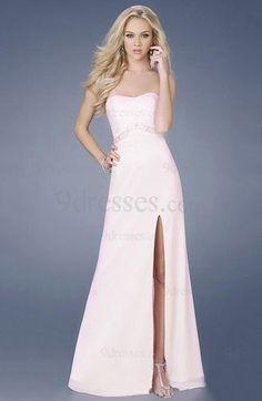 Elegant Sleeveless Hook up Chiffon Strapless Sheath Party Dress