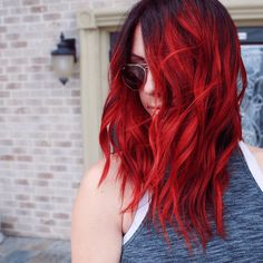 Burgundy Brown - 40 Red Hair Color Ideas – Bright and Light Red, Amber Waves, Ginger Hair Color - The Trending Hairstyle Red Hair Dark Roots, Hair Color Dark, Cool Hair Color, Red Ombre Hair Color, Bright Red Hair, Bright Hair Colors, Black To Red Hair, Dark Hair With Red, Red Hair Fade