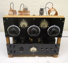 1929 style ham transmitter, front view.