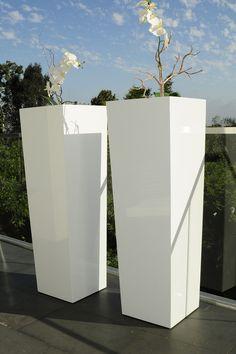 Tall Barrel Flower Planters//