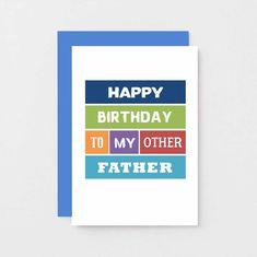 030ad58e Stepdad Birthday Card For Stepfather | Father in Law | Other Father |  Foster Father | Father Figure | Card For Bonus Dad | SE0142A6