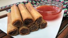 Lumpia Shanghai, Shanghai Food, Shanghai Recipe, Filipino Appetizers, Yummy Appetizers, Filipino Egg Rolls, Lumpia Recipe, Ground Meat, Cinnamon Sticks
