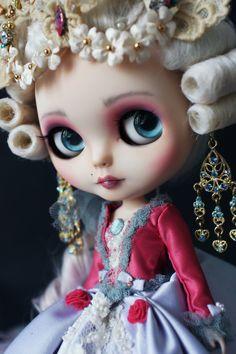Marie antoniette Masquerade Custom Blythe doll Art Print