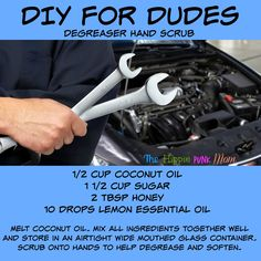 Hand Degreaser, Hand Scrub for guys DIY for Dudes Essential Oils for Men