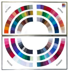 colour wheel from the House of Colors to find your palette/season/best blue shades