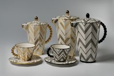 Coffee sets, author: Pavel Janák, designed : 1911