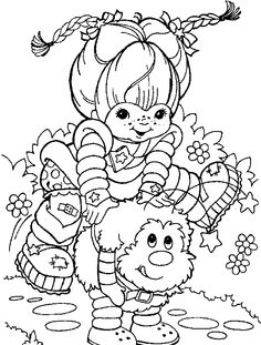 Rainbow Brite Coloring Pictures