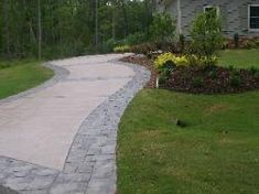 fayetteville stained concrete driveway | pool and patio ... - Driveway Patio Ideas