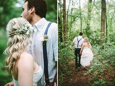 Hair idea - Rustic Chic Backyard Wedding: Michelle + Jimmy