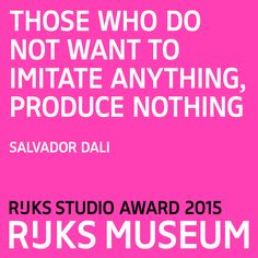 Want to be a true artist like Salvador Dalí? This is your chance to create your very own design using #Rijksstudio. Join our competition 'Make your own Masterpiece' and win the Rijksstudio Award! Closing date:15 March 2015. https://www.rijksmuseum.nl/en/rijksstudio-award