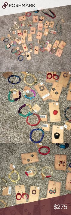 Terra Jewelry made from Amazon rainforest seeds This is a large bundle of all new terra brand jewelry handmade and sustainable made from seeds from the Amazon rainforest. Assorted bracelets, rings, earrings, necklaces. I bought out the jewelry from a boutique that was closing. There are 41 pieces and the retail prices that are still on each piece add up to a total of $550.25 worth of merchandise at full price. I'm offering a great price reduction that still allows you to buy it and resell it…