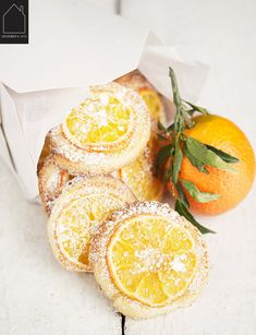 12.08.2014 - Mandarin Orange Tea Cookies via Seasons & Suppers | THE PLACE HOME
