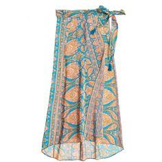 Sveta Paisley Printed Silk Wrap Skirt | Calypso St. Barth