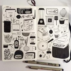 Fabulous Drawing On Creativity Ideas. Captivating Drawing On Creativity Ideas. Illustrations, Illustration Sketches, Cactus Illustration, Sketchbook Inspiration, Art Sketchbook, Fashion Sketchbook, Art Diary, Funky Art, Bullet Journal Ideas Pages