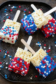 fourth of july food 5 red white and blue treats. Blue Desserts, 4th Of July Desserts, Fourth Of July Decor, 4th Of July Celebration, 4th Of July Decorations, 4th Of July Party, Holiday Desserts, Holiday Treats, July 4th