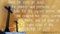 Verse of the Day - Hebrews 12:2 NIV