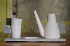 Raili Keiv is a porcelain designer from Tallinn, Estonia Concrete Wood, Porcelain, Tableware, Interior, Design, Craft Work, Porcelain Ceramics, Dinnerware, Indoor